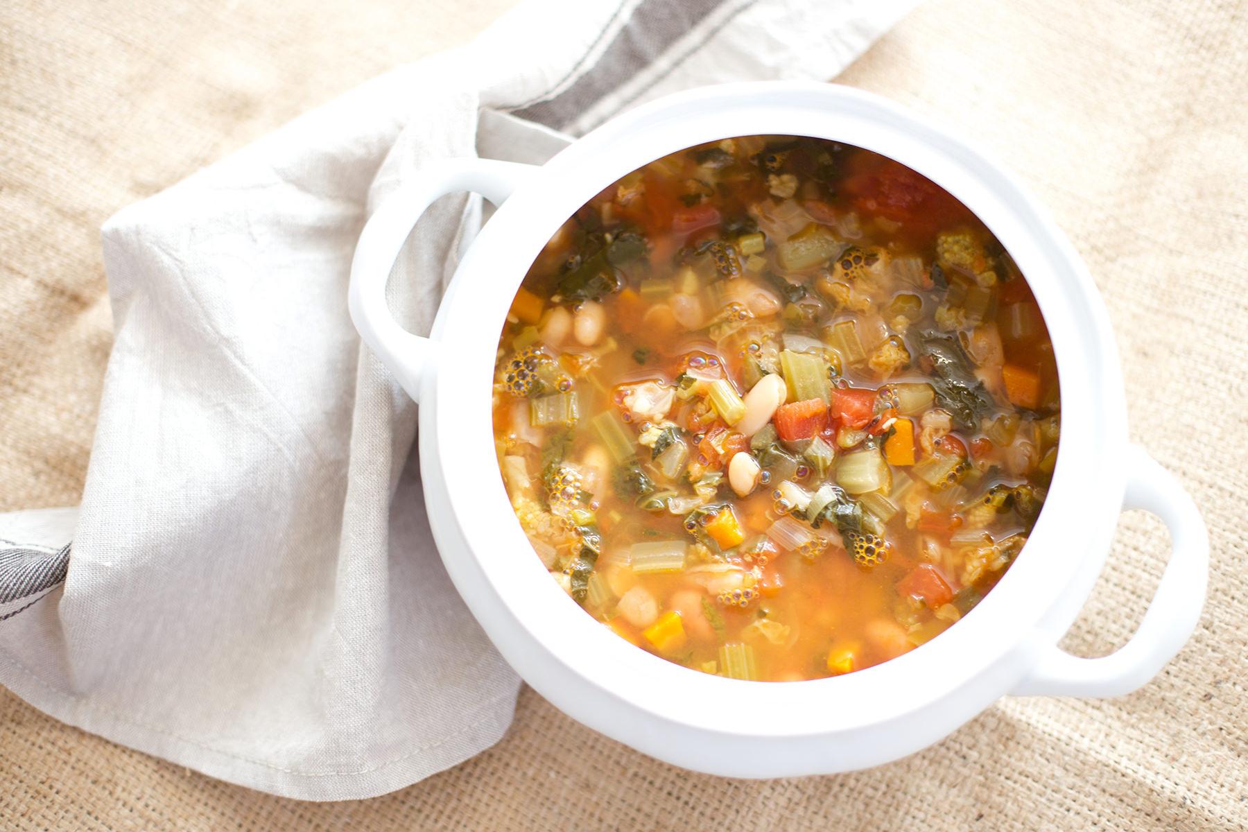 Historia de una sopa minestrone